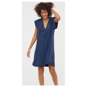 H&M Lyocell Denim Blue Tunic Dress